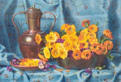 Casimir RAYMOND (1870-1955) Casimir RAYMOND (1870-1955)  Bouquet de fleurs  Aquarelle...