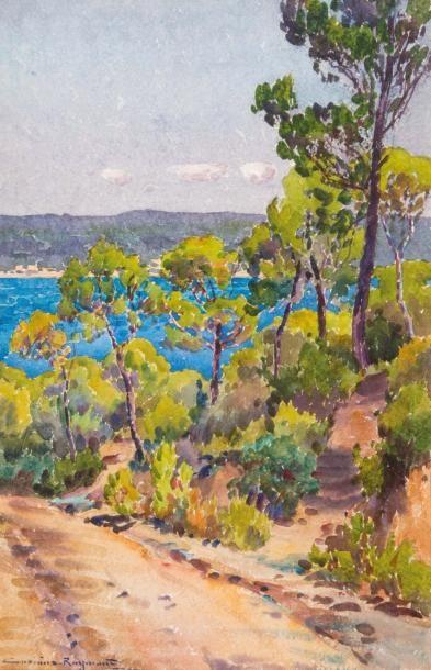 Casimir RAYMOND (1870-1955) Casimir RAYMOND (1870-1955)  Cabanon au bord de l'étang...