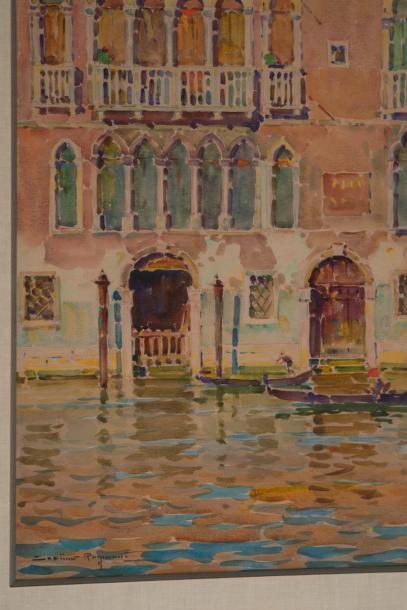Casimir RAYMOND (1870-1955) Casimir RAYMOND (1870-1955)  Vue de Venise  Aquarelle...