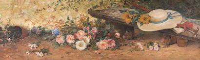JEAN-BAPTISTE OLIVE (1848-1936) Jean-Baptiste OLIVE (1848-1936)  Nature morte au...
