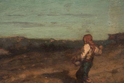 André Marius GUINDON (1831-1918) André Marius GUINDON (1831-1918)  Paysage animé...
