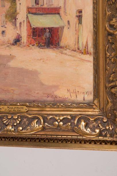 Charles MALFROY (1862-1918) Charles MALFROY (1862-1918)  St Cyr du Var  Huile sur...