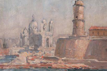 Michel FRONTI (1862-?) Michel FRONTI (1862-?) Vue de la Cathédrale de la Major Huile...