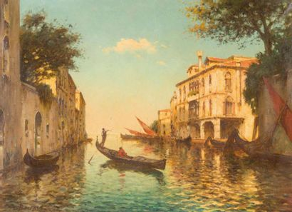 Antoine BOUVARD (1870-1955/56) Antoine BOUVARD (1870-1955/56)  Vue de Venise  Huile...