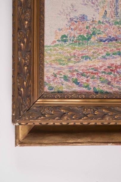 Henri AURRENS (1873-1934) Henri AURRENS (1873-1934)  Les amandiers  Huile sur toile...