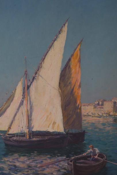 Antoine PONCHIN (1872-1934) Antoine PONCHIN (1872-1934)  La baie de Canne  Huile...