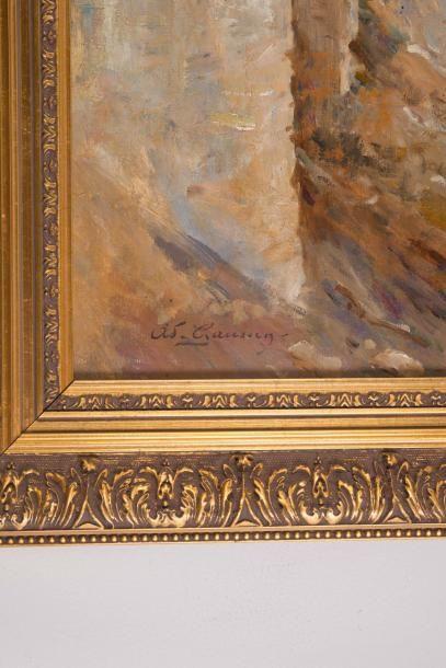 Adolphe Louis GAUSSEN (1871-1954) Adolphe Louis GAUSSEN (1871-1954)  La corniche...