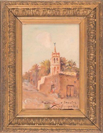 Maxime NOIRÉ (1861-1927) Maxime NOIRÉ (1861-1927)  Minaret  Huile sur toile  Signée...