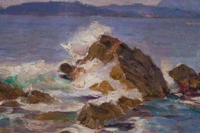 Adolphe Louis GAUSSEN (1871-1954) Adolphe Louis GAUSSEN (1871-1954)  Vue des îles...