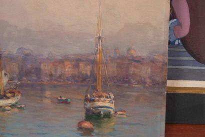 Joseph GARIBALDI (1863-1941) Joseph GARIBALDI (1863-1941)  Vue du Vieux Port  Huile...