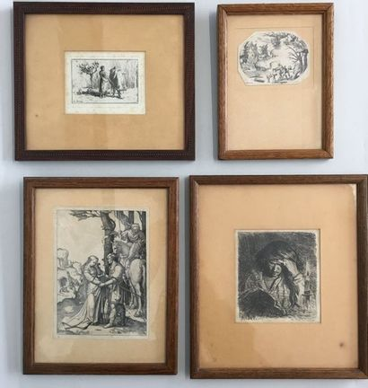 La lecture gravure signée et atée 1621 en...