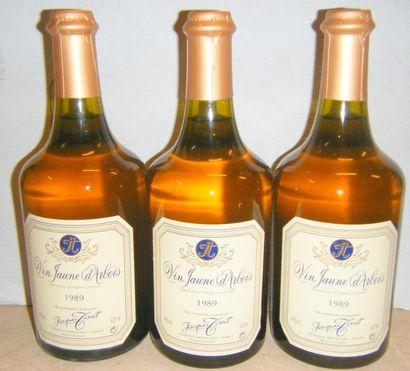 3 Bouteilles VIN JAUNE D'ARBOIS JACQUES TISSOT...