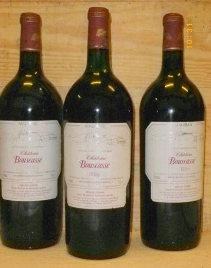 3 Magnums MADIRAN CHÂTEAU DE BOUSCASSE CUVEE...