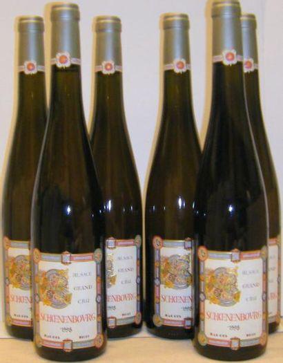 6 Bouteilles ALSACE GRAND CRU SCHOENENBOURG...