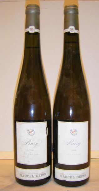 2 Bouteilles BURG - M. DEISS 1998 1 étiquette...