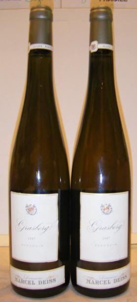 2 Bouteilles GRASBERG - M. DEISS 1997