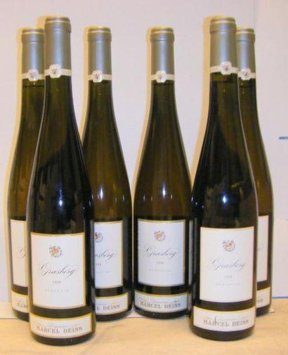 6 Bouteilles GRASBERG - M. DEISS 1999 2 étiquettes...