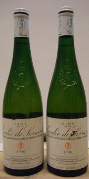 2 Bouteilles LA COULEE DE SERRANT 1990 Etiquettes...
