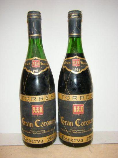 2 Bouteilles Espagne - GRAN CORONAS RIOJA...