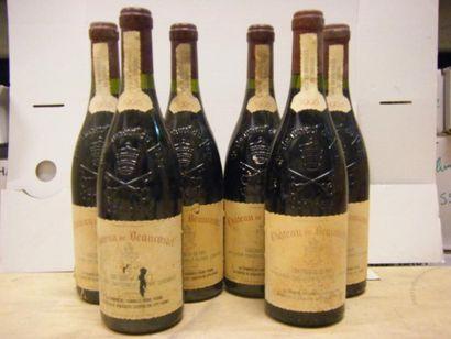 6 Bouteilles BEAUCASTEL 1998 4 étiquettes...