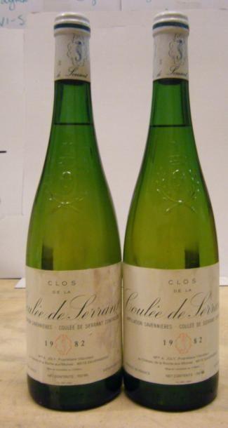 2 Bouteilles LA COULEE DE SERRANT 1982 Etiquettes...