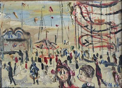 Gabriel DAUCHOT (1927-2005) La fête foraine...