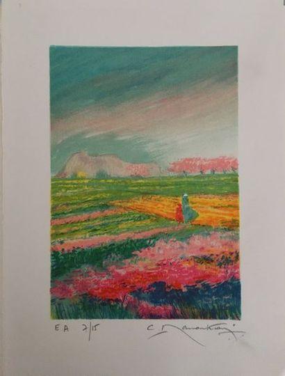 Claude MANOUKIAN (né en 1936) Paysages de...