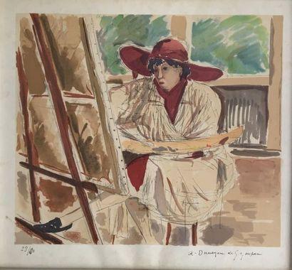 André Marie DUNOYER DE SEGONZAC (1884-1974)...