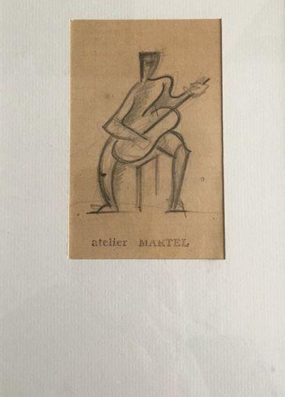 Jean et Joel MARTEL (1896-1966) Le guitariste...