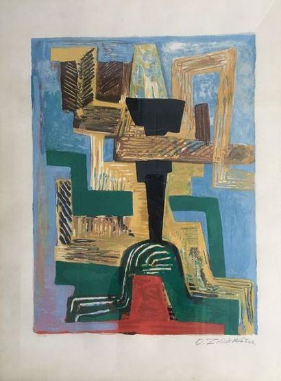 Ossip ZADKINE (1890-1967)  Dieu noir (1962)...