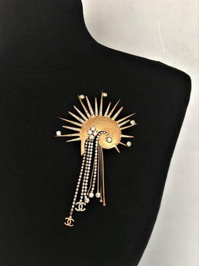 CHANEL Prototype Haute Couture Broche plume...