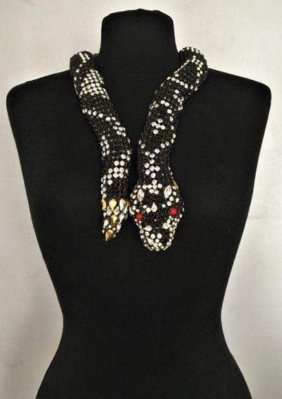 HANNA BERNHARD Paris Collier serpent en métal...