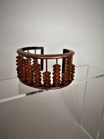 JEAN PAUL GAULTIER Bracelet boulier en métal...