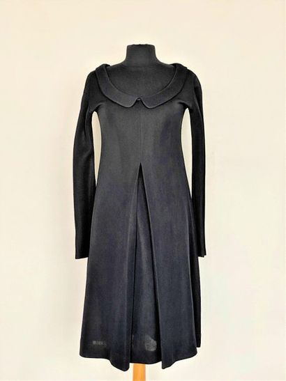JUNKO SHIMADA Black jersey dress with large...