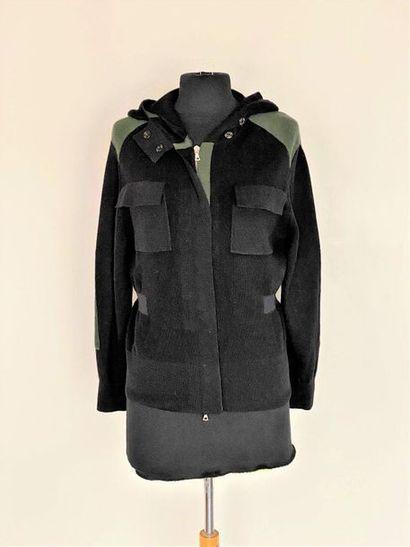 DRIES VAN NOTEN Black and bronze wool knit...