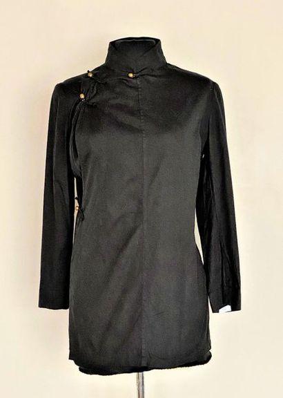 YOHJI YAMAMOTO Black cotton jacket with brass...