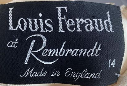 LOUIS FERAUD at Rembrant Made in England Ivory woollen chasuble dress openwork neckline...