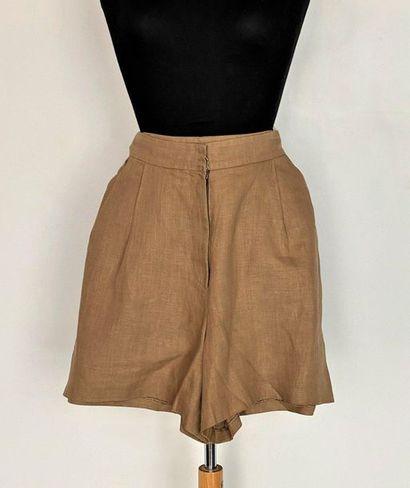 LECOANET HEMANT Paris Shorts in marron glacé...