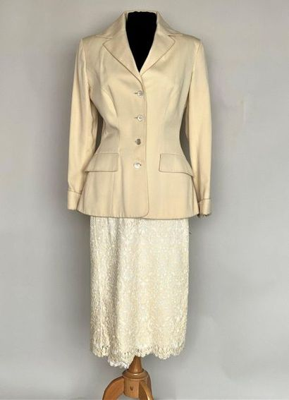 JUNKO SHIMADA Jacket in wool and Skirt in...