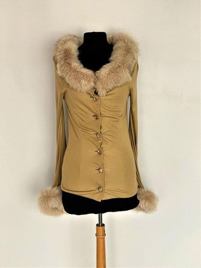 JIKI Monte Carlo Creations Cream jersey jacket...