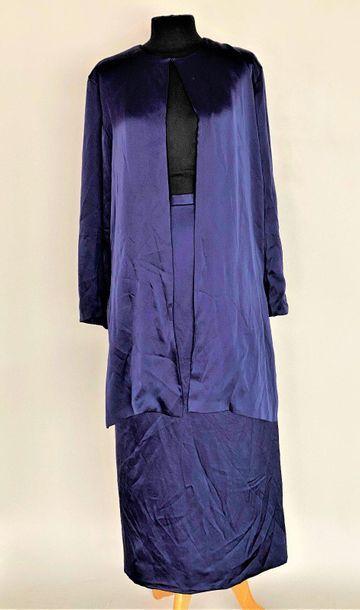 JL SCHERRER Boutique 424898 Night blue silk...