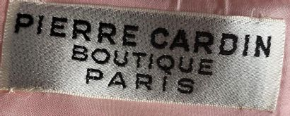 PIERRE CARDIN Boutique Paris Sleeveless dress in pink crepe powdered with pearled...