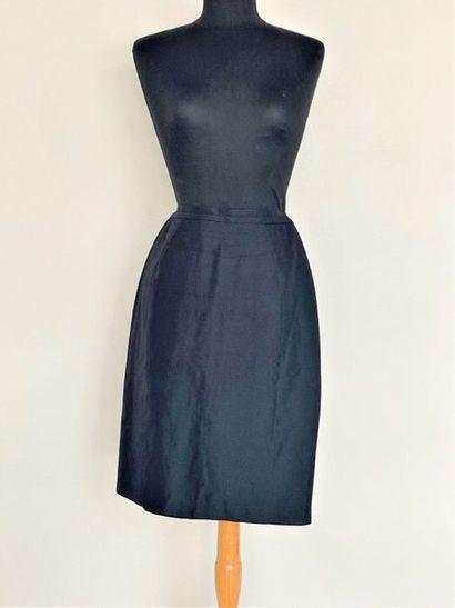 THIERRY MUGLER Black silk skirt Size 40