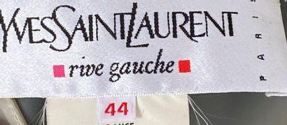 YVES SAINT LAURENT Rive Gauche Translucent polyvinyl raincoat Size 40 (slight t...