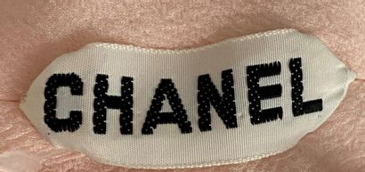CHANEL Haute Couture Pink chiffon top with draped belt Size 38  (Tiny halos)