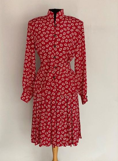 GUY LAROCHE Boutique Ensemble blouse et jupe...