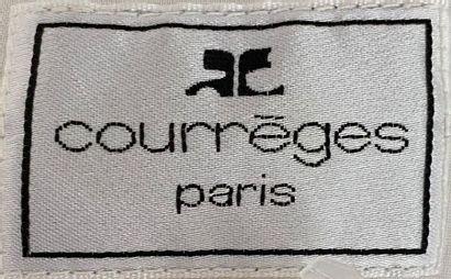 COURREGES Paris White cotton jacket with transparent plastic bands Size 38  (Neck...