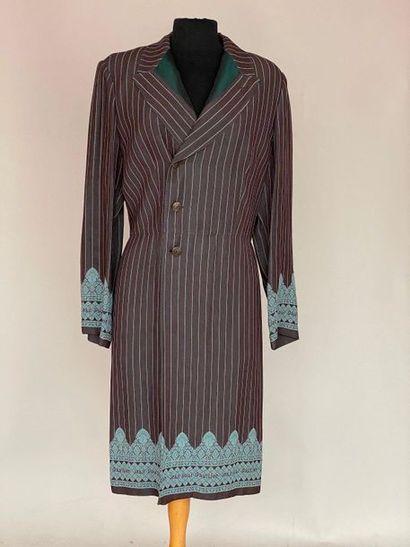 JEAN PAUL GAULTIER Robe manteau en lainage...