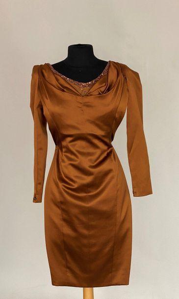 LANVIN Paris Haute Couture Robe en satin...