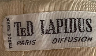 TED LAPIDUS Paris Diffusion Chasuble dress in ivory woollen with quilted skirt Size...